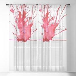 My Schizophrenia (6) Sheer Curtain