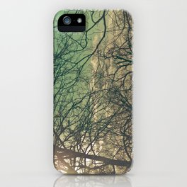 trees & sky. iPhone Case