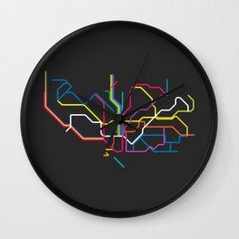 barcelona metro map Wall Clock