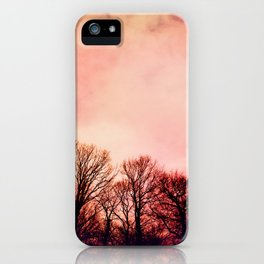 Pink Trees iPhone Case