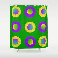 Mardi Gras Polka Dots Shower Curtain