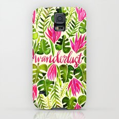 Tropical Wanderlust – Pink & Lime Galaxy S5 Slim Case