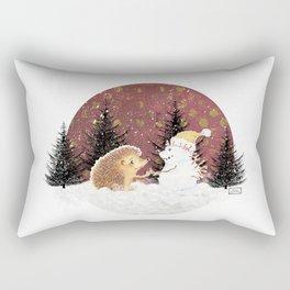 Winter Woodland - Hedgehog Bae Rectangular Pillow