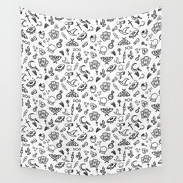 Modern Witch - White Wall Tapestry