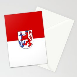 flag of Düsseldorf or Dusseldorf Stationery Cards