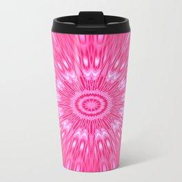 Pink Mandala Explosion Travel Mug