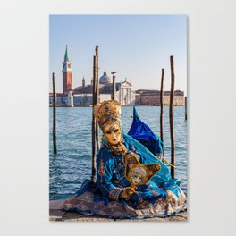 Mask in Venice Canvas Print