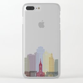 Kansas City skyline poster Clear iPhone Case