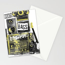 Beats, Bass & Guitar. Stationery Cards