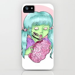 Pastel zombie iPhone Case