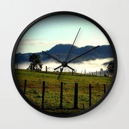 On a cold winter's morning in Tasmania - Australia Wall Clock