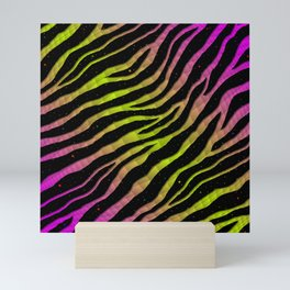 Ripped SpaceTime Stripes - Pink/Lime Mini Art Print