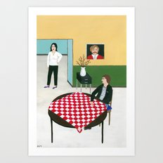 A Woman and a Boy Art Print