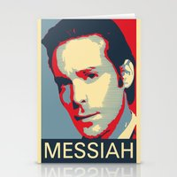 battlestar Stationery Cards featuring Baltar 'Messiah' design. Inspired by Battlestar Galactica. by hypergeek
