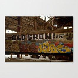 Old Crow graffiti Train Car Canvas Print