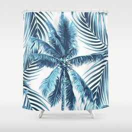 South Pacific palms II - oceanic Shower Curtain