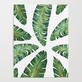 Tropical Banana Leaves #society6 #buyart Poster