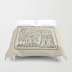 Over The Mountains Duvet Cover