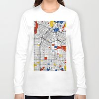 los angeles Long Sleeve T-shirts featuring Los Angeles by Mondrian Maps