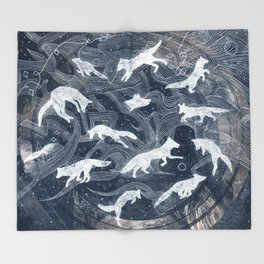 GHOSTS  Throw Blanket