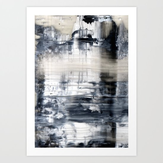BBlack and white distortion  Art Print
