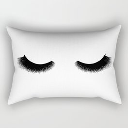 black and white eyelashes Rectangular Pillow