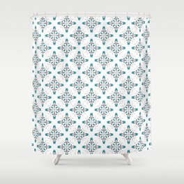 ornamental watercolor Shower Curtain
