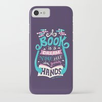 risa rodil iPhone & iPod Cases featuring Book is a dream by Risa Rodil