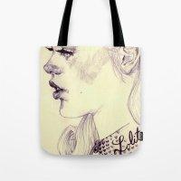 lolita Tote Bags featuring lolita by adria mercuri