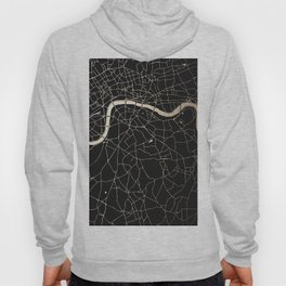 London Black on Gold Street Map II Hoody