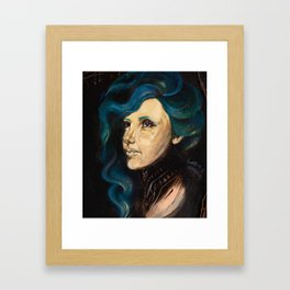 True Blue Framed Art Print