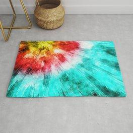 Colorful Tie Dye Rug