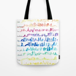 Skylines Across the World Tote Bag
