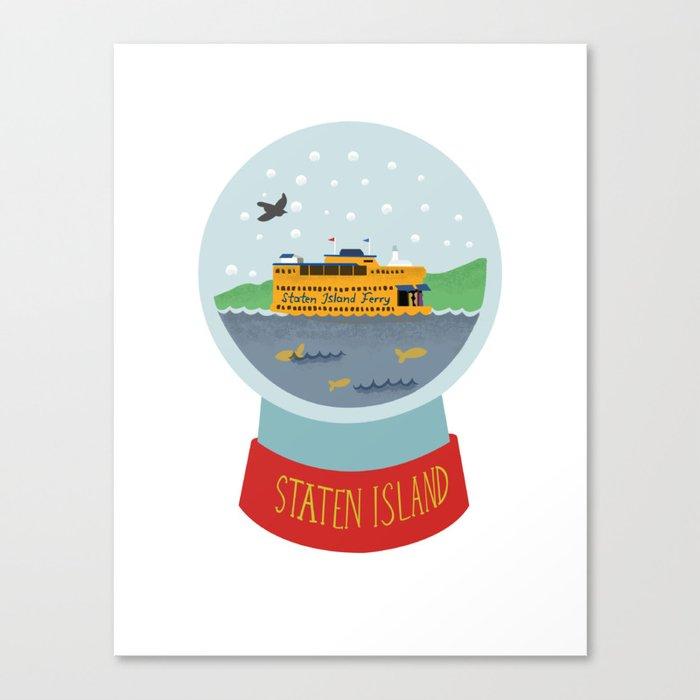 staten island ferry globe art snow globe new york city canvas