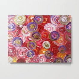 """Abstract  """"Classic Red"""" Metal Print"""