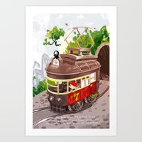 Travel By Trolly Art Print