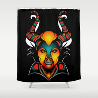 maleficent Shower Curtains featuring Maleficent by Quakerninja