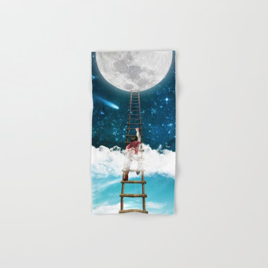 Reach for the Moon v2 Hand & Bath Towel