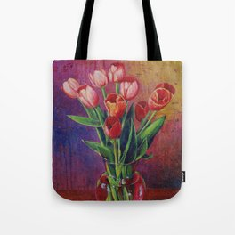 A Table For Tulips Tote Bag