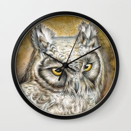 Eagle Owl Wall Clock