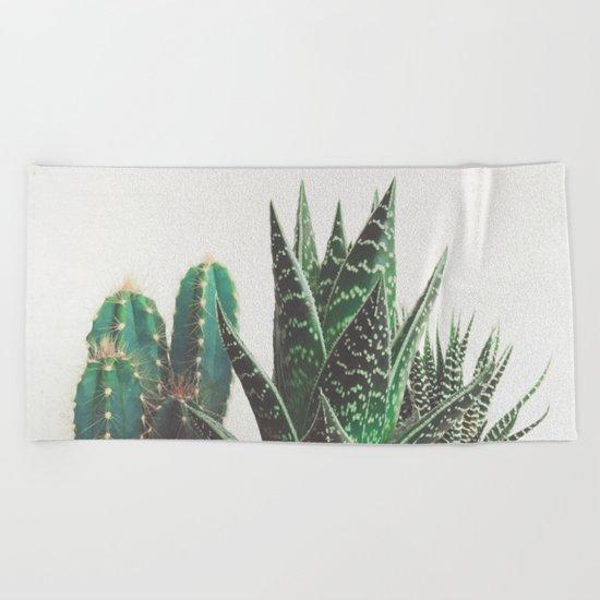 Cactus & Succulents Beach Towel