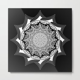 Shockweb (Black) Metal Print