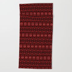 Dividers 07 in Red over Black Beach Towel