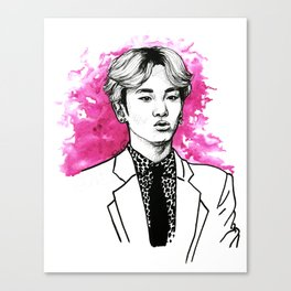 Pink SHINee Key Kibum Canvas Print