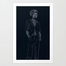 Gregory Isaacs Art Print