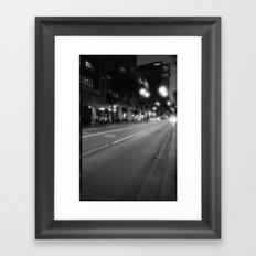 White bulbs Framed Art Print