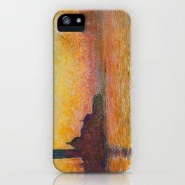 Claude Monet San Giorgio Maggiore at Dusk (Venice) iPhone Case
