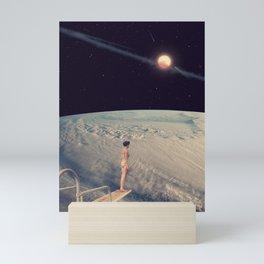 Leap Of Faith - Space Aesthetic, Retro Futurism, Sci Fi Mini Art Print