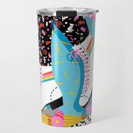 Steeze - 80's memphis rollerskating rad neon trendy art gifts throwback retro vibes Travel Mug