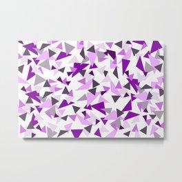 Triangel Purple pink Graphic Design Metal Print